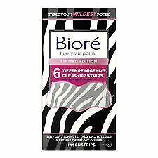 Biore LIMITED EDITION Zebra 6 Deep Cleansing Pore Strips
