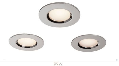 COLOURS CHROME EFFECT LED ADJUSTABLE RECESSED DOWNLIGHT 5.5 W IP65 PACK OF 3 NEW