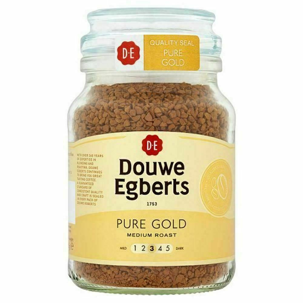 Douwe Egberts Pure Gold Instant Coffee 95G Be the first to write a review.