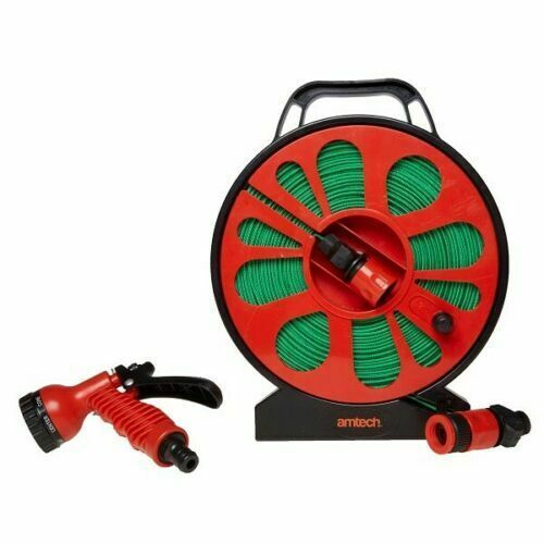 Flat Expandable Hose On Reel - 50ft