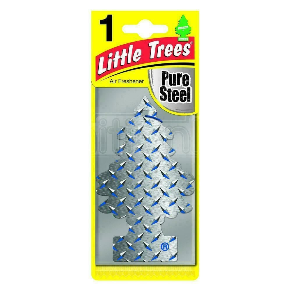 MAGIC TREE LITTLE TREES CAR AIR FRESHENER SCENT - PURE STEEL