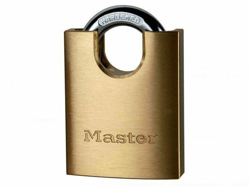 Master Lock Solid Brass 50mm Padlock 5 Pin Shrouded Shackle