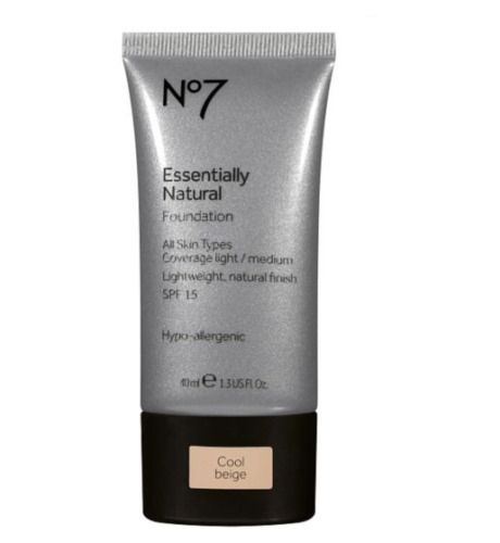 No7 Essentially Natural Foundation Shade Cool Ivory 40ml