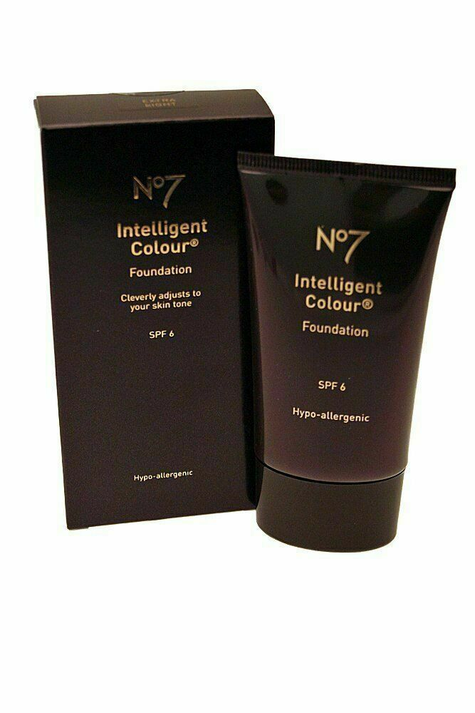 No7 Intellegent Colour Foundation 40ml - Light SPF 6, New Health and Personal Ca