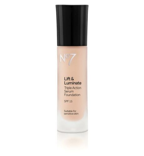 No7 Lift & Luminate SPF15 TRIPLE ACTION Serum Foundation 30ml Cool Beige