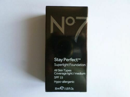 No7 STAY PERFECT SUPERLIGHT FOUNDATION 30ml SHADE : COOL VANILLA