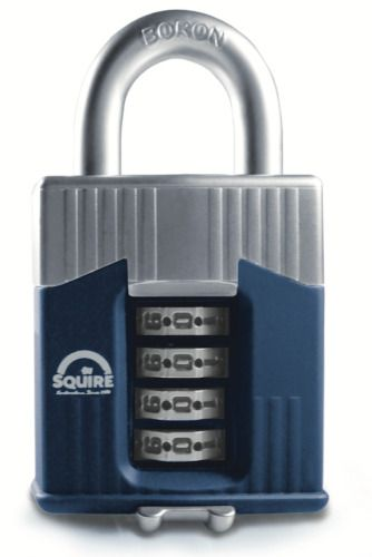 Squire Warrior Armoured High-Security Open Shackle Combination Padlock 55mm